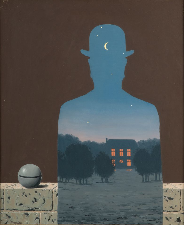 René Magritte, The Happy Donor, 1966; oil on canvas; Musée d'Ixelles, Brussels