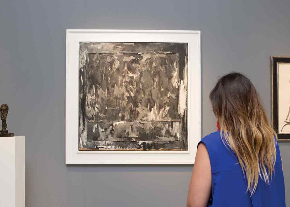 Jasper Johns's Disappearance I (1960), priced at $18.5m with  Di Donna, was shown at the Broad in Los Angeles last month