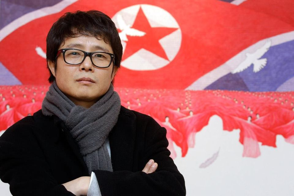 Korean Song Byeok, who formerly made propaganda art for the North Korean state and has since defected to South Korea