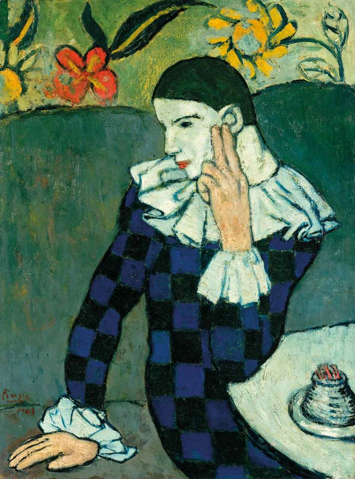 Picasso's Arlequin Accoudé (1901) will be in the Beyeler's blockbuster show next year