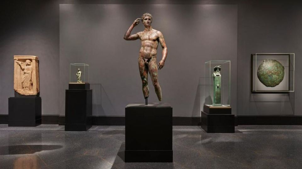 The Statue of a Victorious Youth in the Getty Villa's newly installed galleries