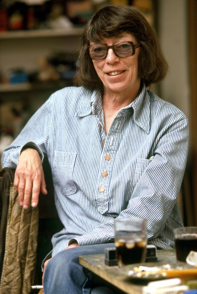 Joan Mitchell in her Vétheuil studio in 1983