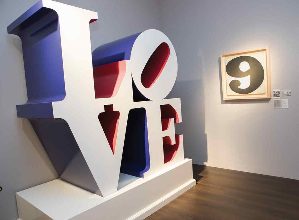 Robert Indiana's The American Love (White Blue Red) (1966/2000)