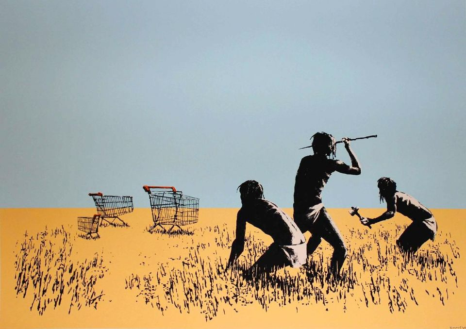 Banksy's Trolley Hunters