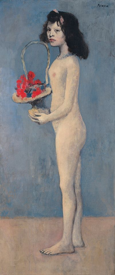 Picasso's Fillette à la corbeille fleurie (Young Girl with a Flower Basket, 1905)