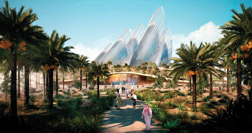 A rendering of the Zayed National Museum