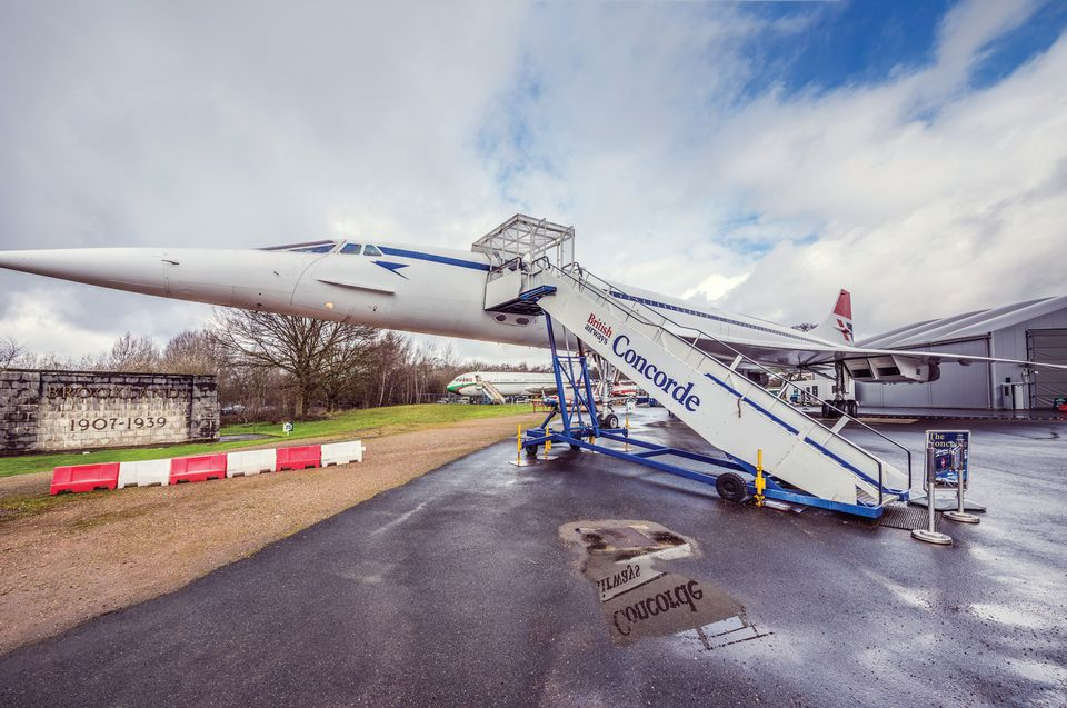The museum's Concorde supersonic airliner