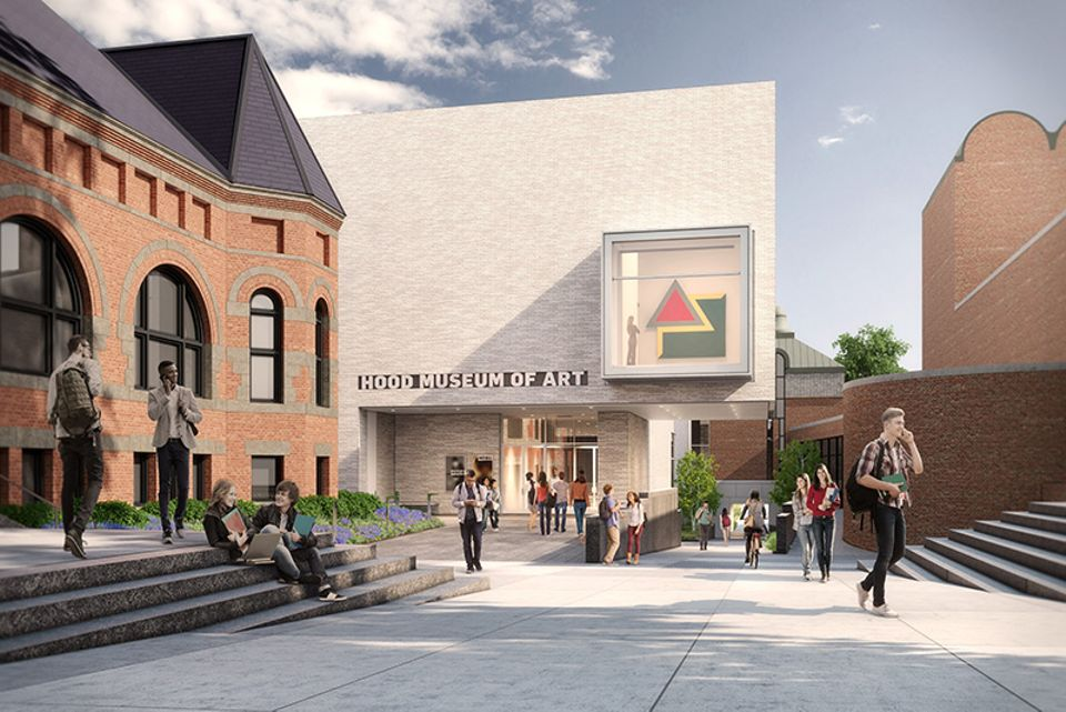 A rendering of the north façade of the expanded Hood    Museum of Art at Dartmouth  College