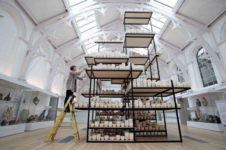 """Clare Twomey's 10,000 Hours (2015) was among the works shown at York Art Gallery after its """"dramatic renovation"""", which saw it shortlisted for Museum of the Year in 2016"""