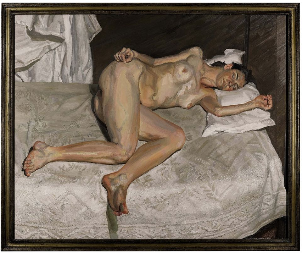 Lucian Freud's Portrait on a White Cover (2002) is the most expensive work by the artist to have been sold in his hometown of London