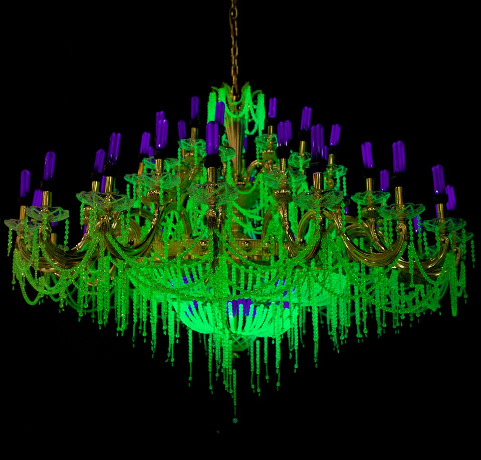 Uranium glass chandeliers banned from shanghai exhibition the art ken and julia yonetanis china chandelier from their crystal palace 2013 series aloadofball Choice Image