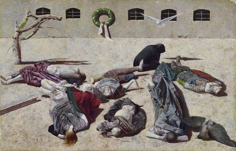 Requiem (1965) by Werner Tübke, one of the few artists of the GDR who gained recognition in West Germany