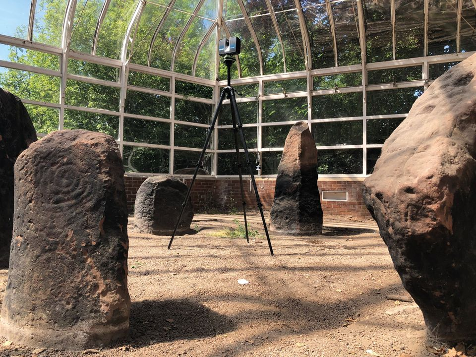 The six megaliths were 3D-scanned before treatment