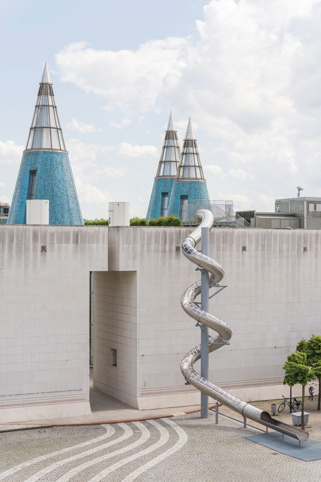Carsten Höller's Bonn Slide (2018) will remain in place after the exhibition ends
