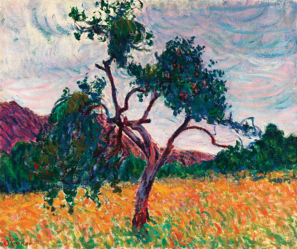 Roderic O'Conor's A Tree in a Field (around 1894) owes a great deal to Van Gogh's Provençal pictures