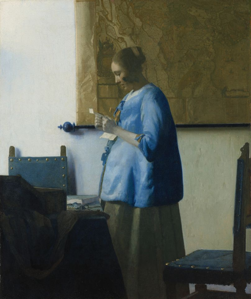 Vermeer's Woman in Blue Reading a Letter (1663-64)