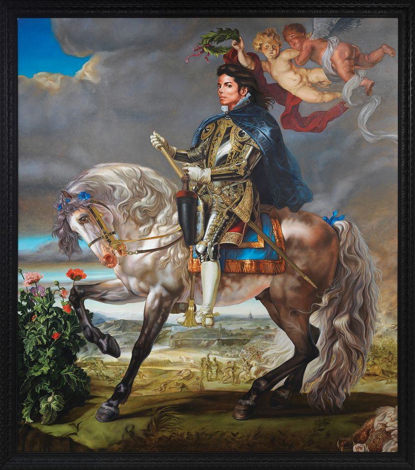 Kehinde Wiley's Equestrian Portrait of King Philip II (Michael Jackson) (2010)