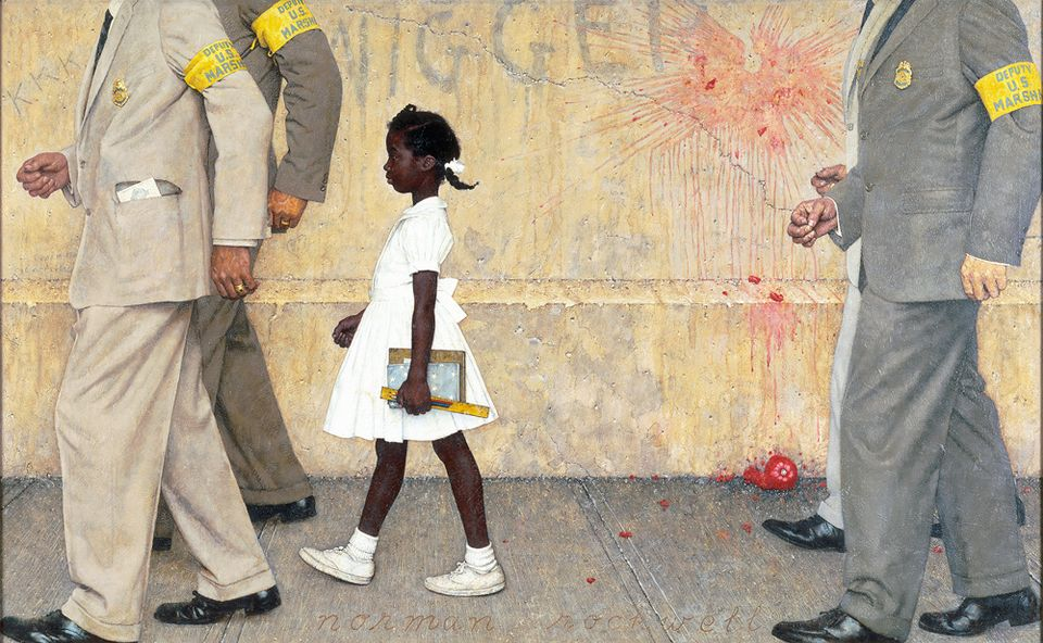 Norman Rockwell, The Problem We All Live With (1963), illustration for Look, January 14, 1964