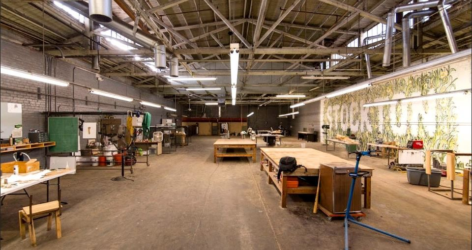 One of the shared spaces at Hatch Workshop in Stockton, California