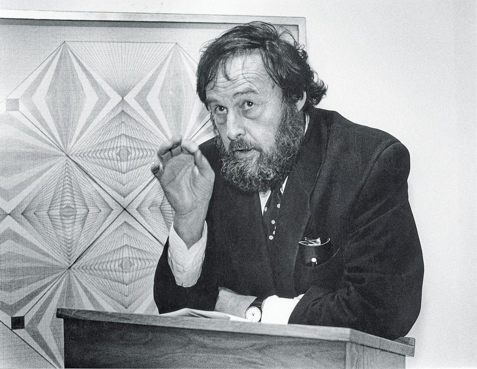 "The inventor of ""curator"": Harald Szeemann, photographed by Roland Beck in the 1980s"