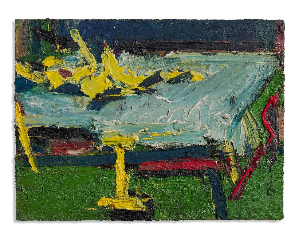 Figure on a Bed II (1967) by Frank Auerbach