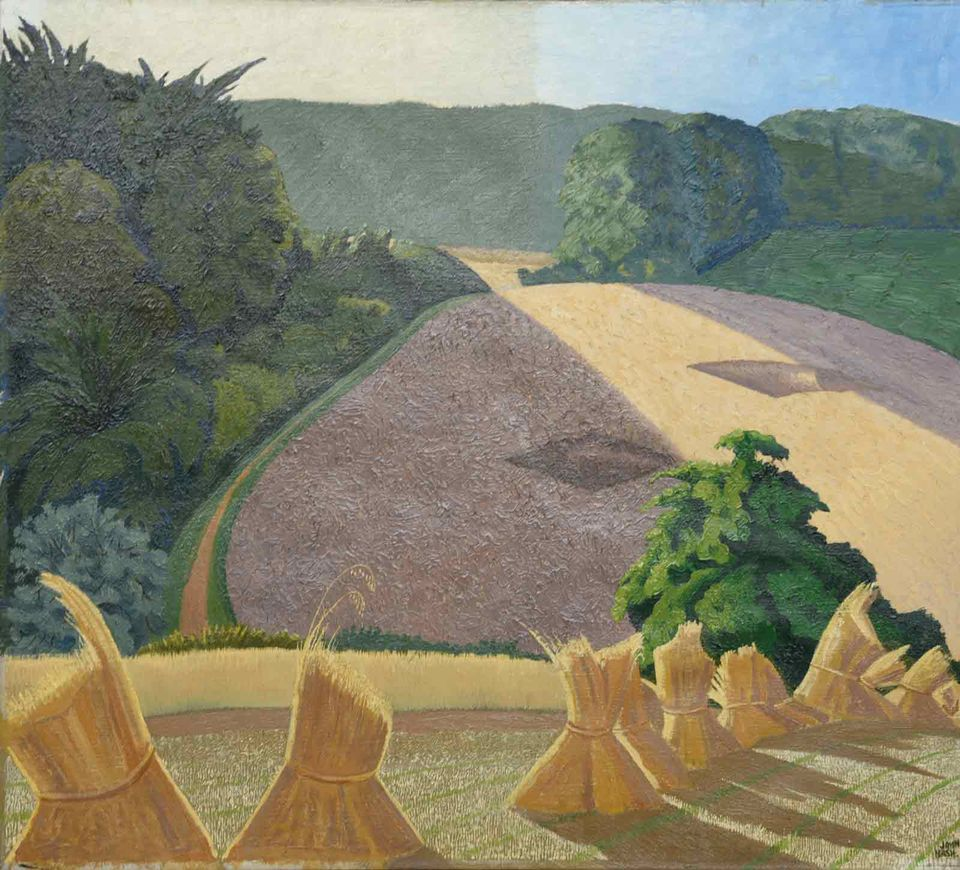 Paul Nash, The Cornfield (1918) after treatment