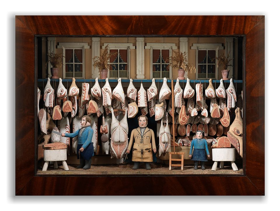 A butcher's shop diorama which sold at Masterpiece London, priced at around £20,000