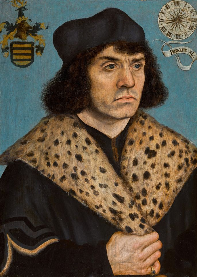 Lucas Cranach the Elder's Portrait of a man with a spotted fur collar (around 1508)