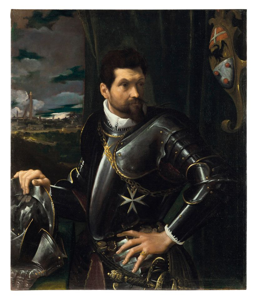 Ludovico Carracci's Portrait of Carlo Alberto Rati Opizzoni in armour, sold for £4.3m (£5m with fees)