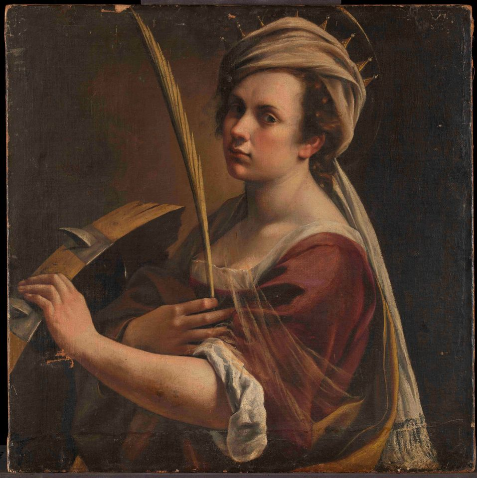 Artemisia Gentileschi's Self-portrait as Saint Catherine of Alexandria (around 1615-17)