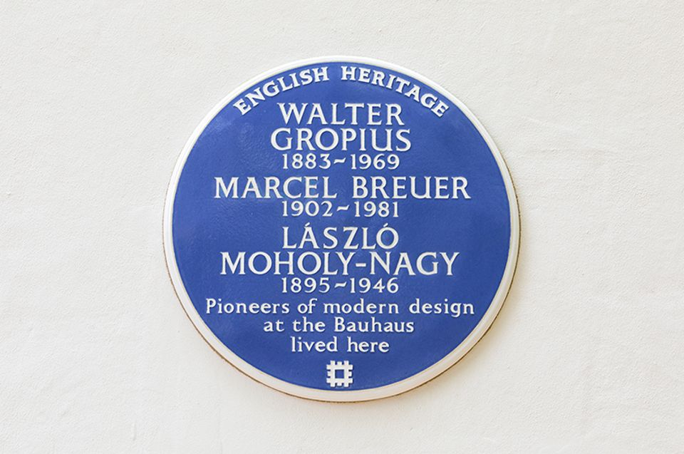 Walter Gropius, Marcel Breuer and László Moholy-Nagy are the latest recipients of the blue plaque