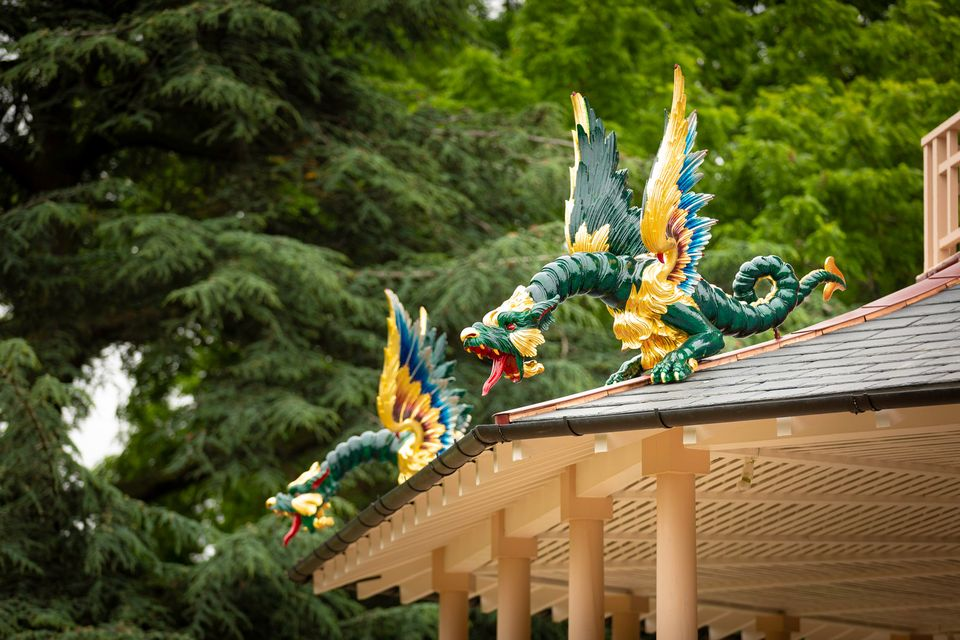 One of the dragons on the Great Pagoda at London's Kew Gardens