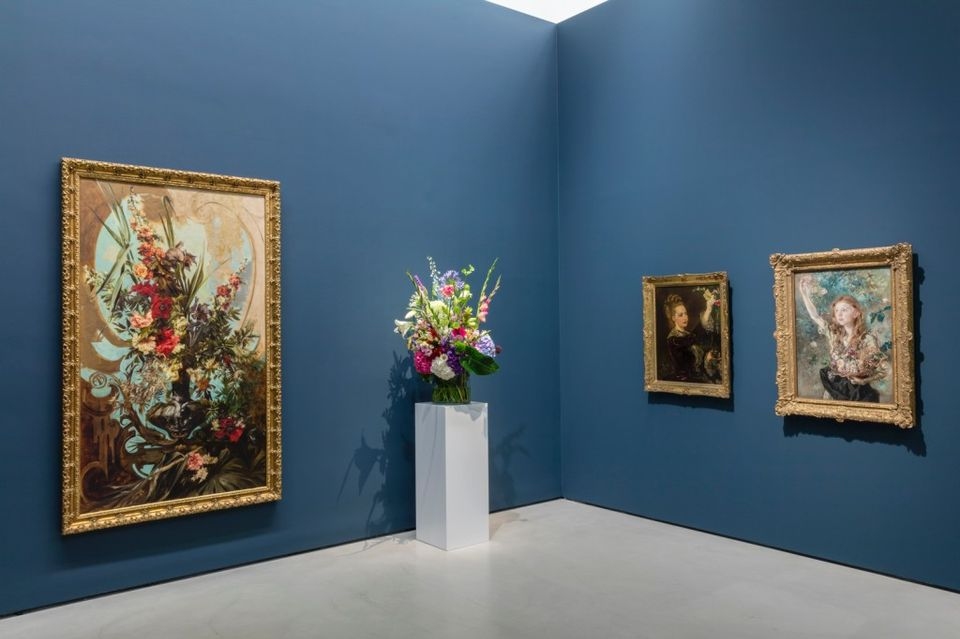Exhibition view of Say it with Flowers! Viennese Flower Painting from Waldmüller to Klimt