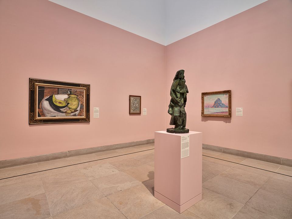 Installation view of An Enduring Legacy: The Eugene and Margaret McDermott Collection of Impressionist and Modern Art at the Dallas Museum of Art