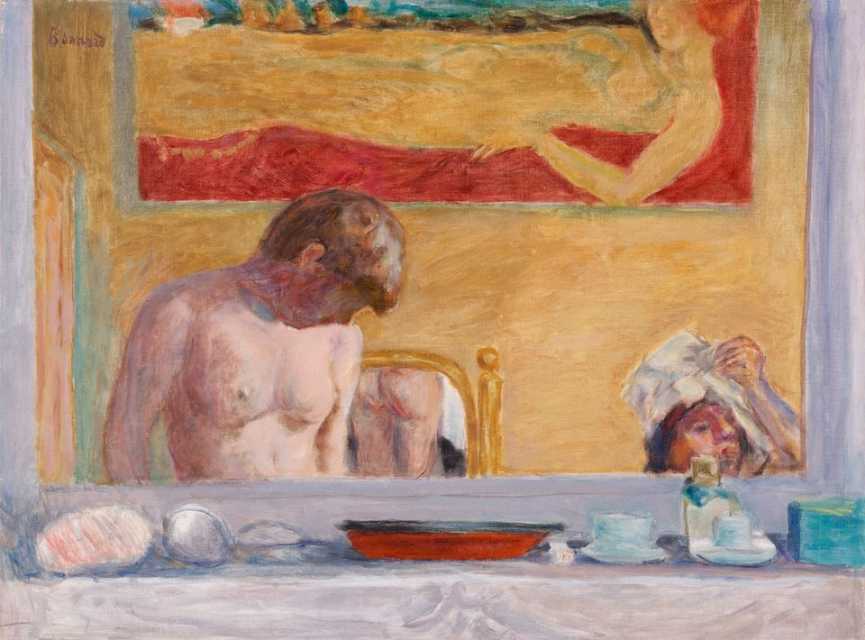 Pierre Bonnard, Young Woman at Her Toilette (1916)