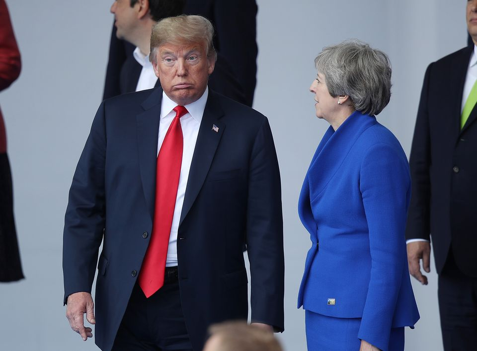 US President Donald Trump with the UK Prime Minister during the Nato summit this week