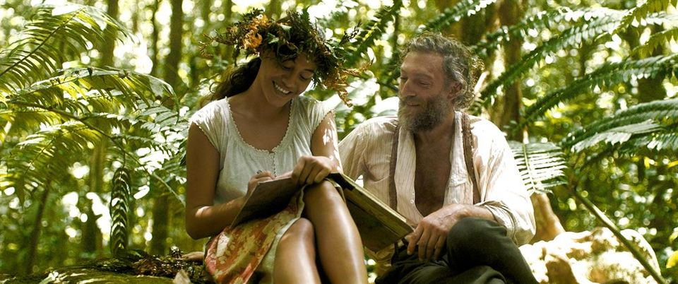 Tuheï Adams and Vincent Cassel in Gauguin: Voyage to Tahiti by Edouard Deluc