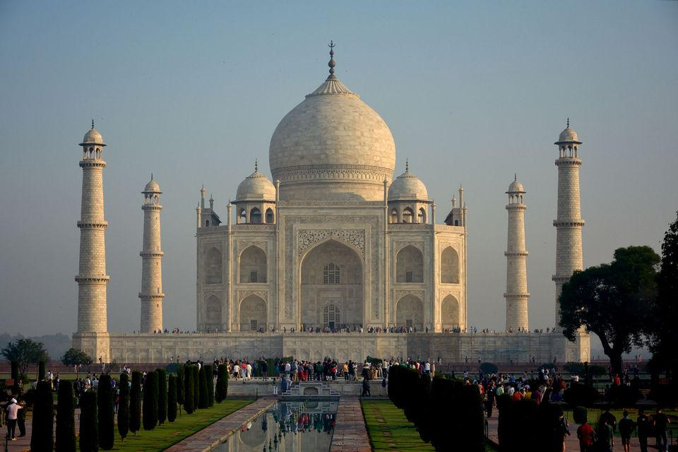 The Taj Mahal, built in the 17th-century as a mausoleum, attracts around 70,000 visitors a day