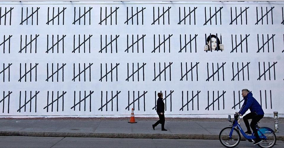 In March, Banksy and the graffiti artist Borf unveiled a 70ft mural in New York protesting against Doğan's arrest