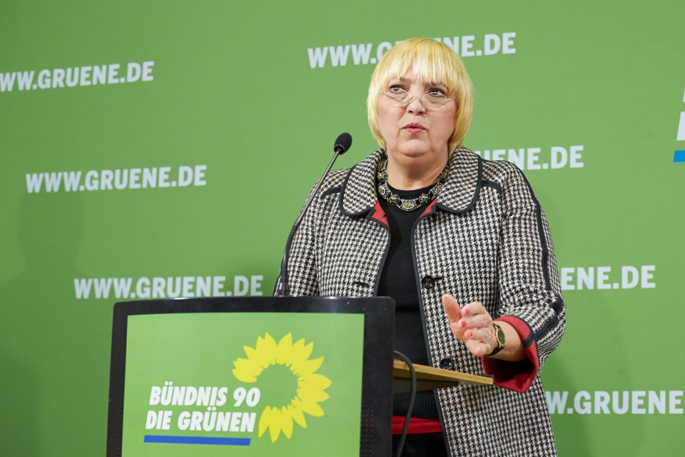 Claudia Roth from Germany's Green Party, one of the two politicians who initiated the petition