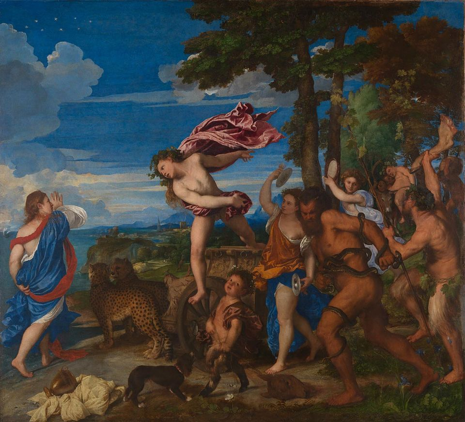 Titian's Bacchus and Ariadne (1520-23), the subject of one of the winning essays