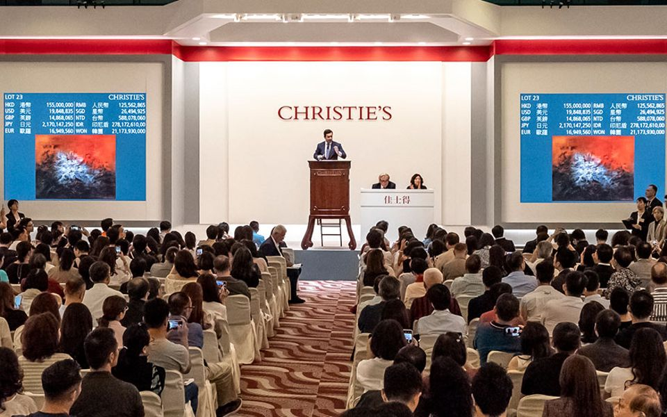 Christie's Spring auctions in Hong Kong totalled HK$3.11 billion