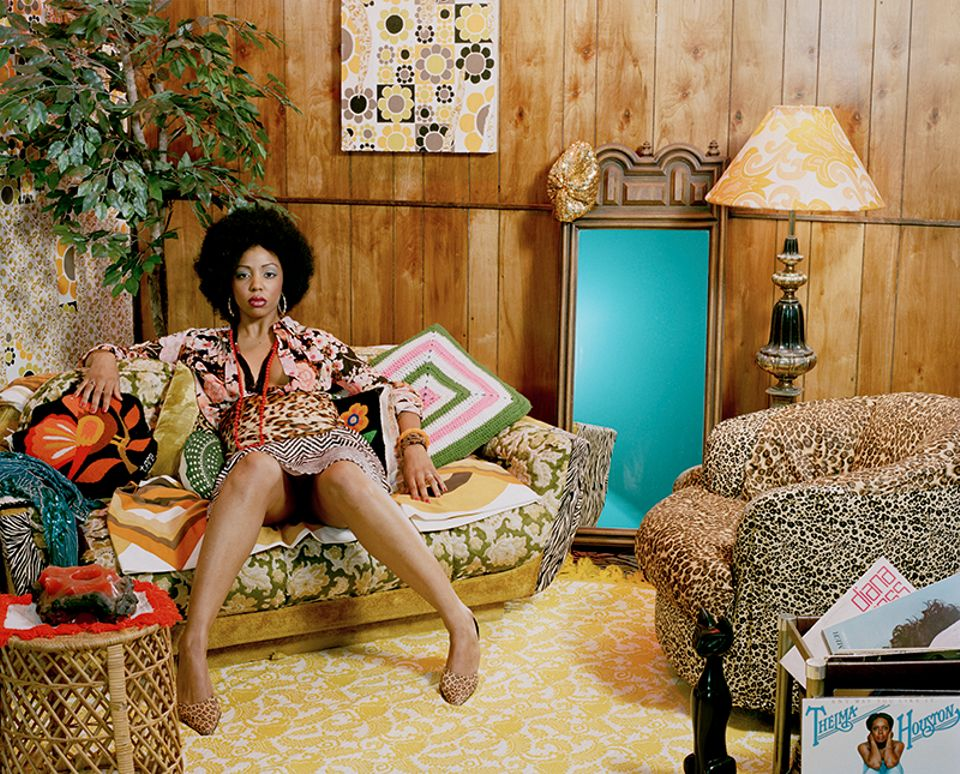 Mickalene Thomas, Lovely Six Foota (2007)