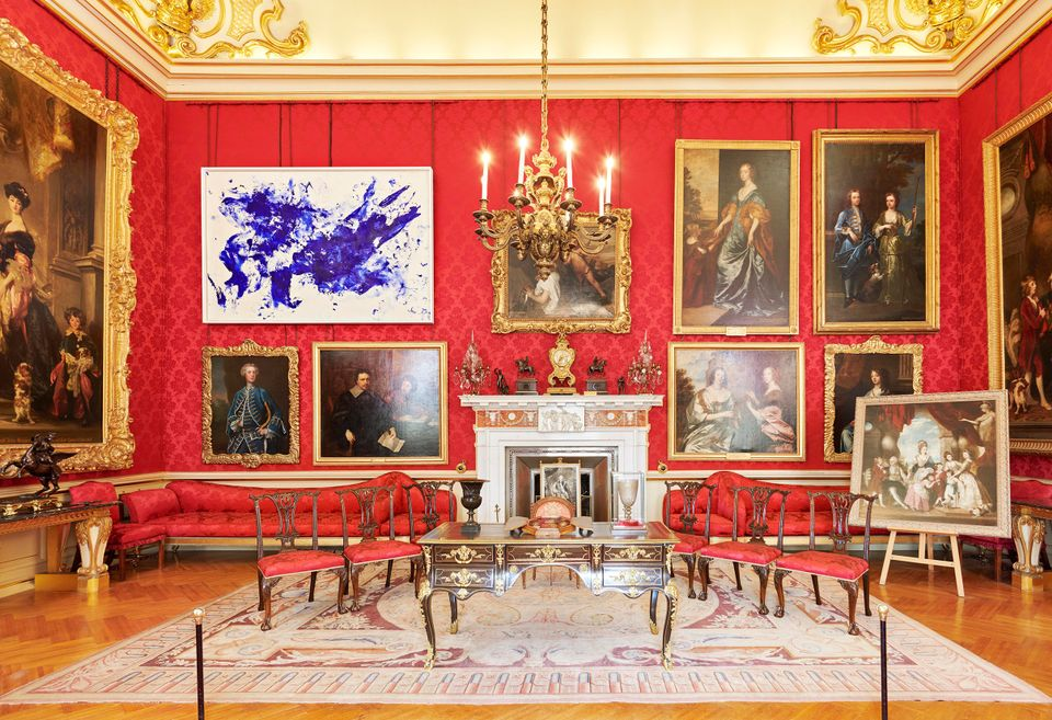 Installation view of Yves Klein's Jonathan Swift (around 1960) in the Red Drawing Room