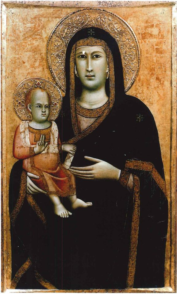 The 14th century painting of the Madonna with Child has been in the UK since 2007