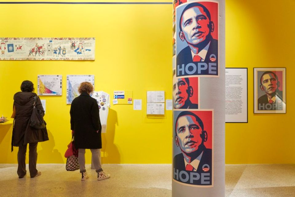 "Shepard Fairey is calling for his ""Hope"" poster of Barack Obama to be removed from the Design Museum"