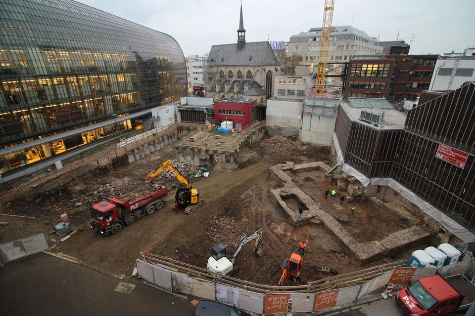 The foundations of a Roman building that is probably the oldest library in Germany have been uncovered in central Cologne