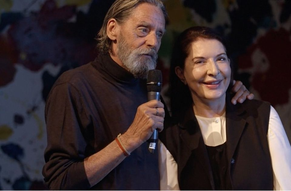 Still from the video The Story of Marina Abramovic and Ulay