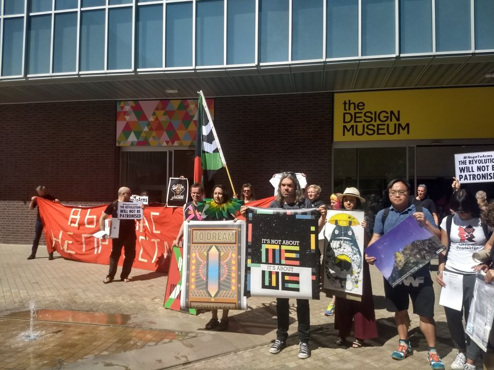 More than 40 artists have today removed their artwork from the Design Museum's Hope to Nope exhibition in protest