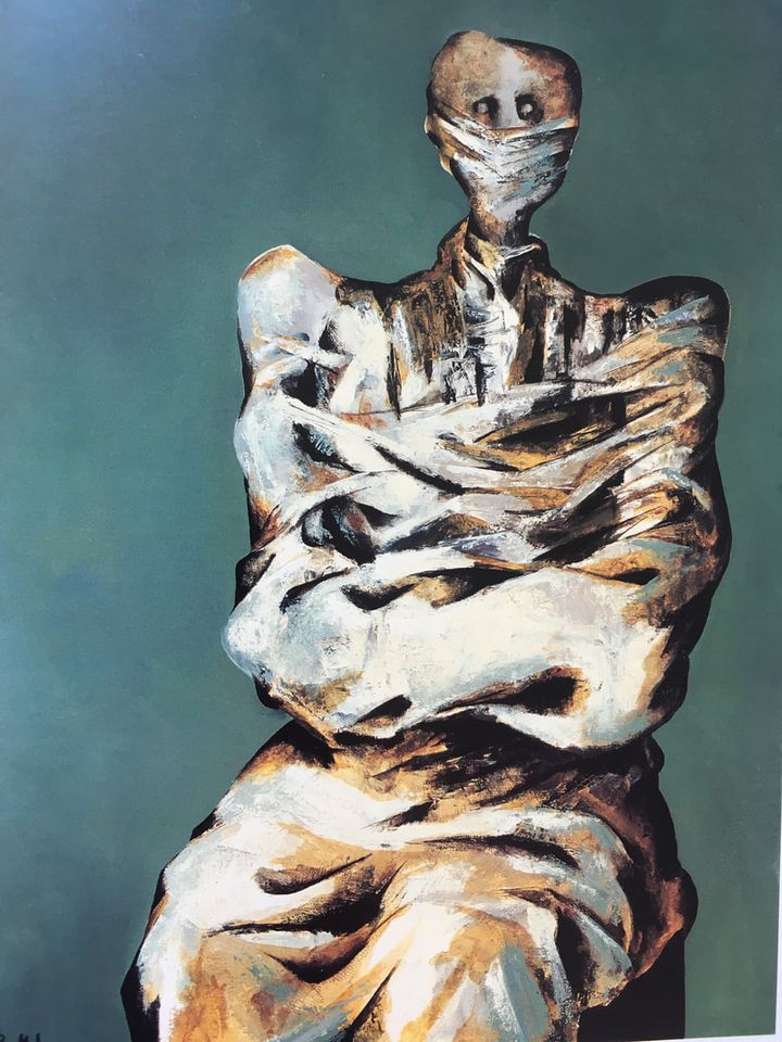 An untitled work by the Iranian painter Bahman Mohasses, part of the Tehran Museum of Contemporary Art's collection